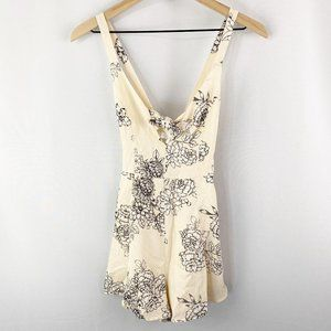 Lush Floral Romper Pale Peach Size Extra Small